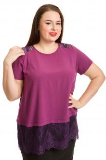 Блузка 735 Luxury Plus (Темно-розовый)