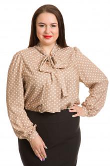 Блузка 617 Luxury Plus (Коричневый)