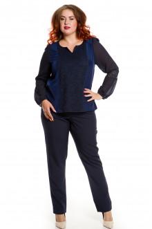 Блузка 486 Luxury Plus (Синий)