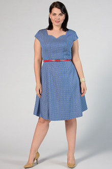 """Платье """"СКС"""" 2910/2 (Голубой/белый горох)"""